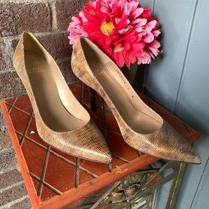 Stuart Weitzman Shoes - STUART WEITZMAN sneak print stilettos Sz 7